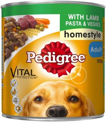 Pedigree Vital Adult Dog Food Lamb Pasta & Vegies Homestyle 700g x 12