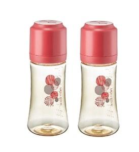 Mother-K PPSU Feeding Bottle 280ml - Red TWIN PACKS