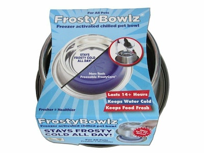 Frosty Bowlz Freezer Activated Chilled Non Skid Pet Bowl