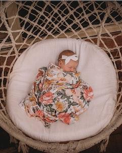 Bubba Bump Baby Secret Garden Bamboo Muslin Wrap