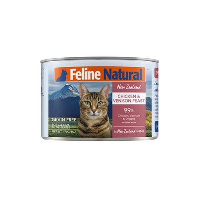 FELINE NATURAL Canned Chicken And Venison 170G