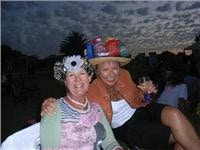 Around Australia West Coasting caravans get into Bazza's Coral Bay Bash