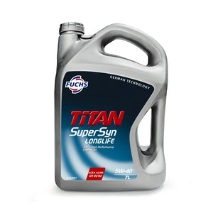 Fuchs Titan Supersyn Longlife SAE 5W-40 7LT Pack Ultra High Perf Engine Oil.