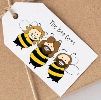 SOUL Self Care  Pleasant Tree Designer Gift Tags - THE BEE GEES 2021