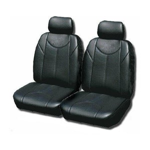 Leather Look Car Seat Covers For Toyota Kluger 7 2010-2014   Black