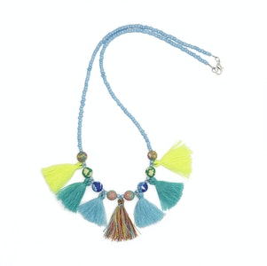 Global Sisters Shop Tabby Necklace Blue