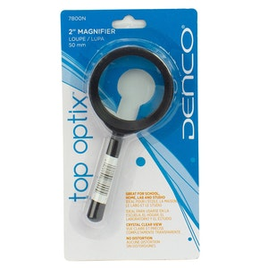 Denco 2 Inch Magnifying Glass Loupe 50mm