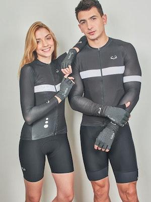 Taba Fashion Sportswear Guante Ciclismo Aero Negro puntos Verdes - Unisex