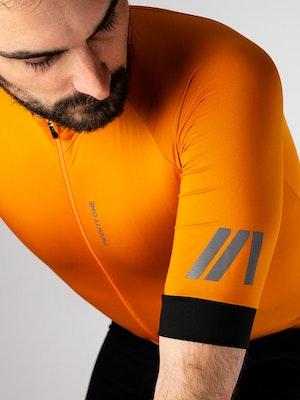 Twenty One Cycling Factory Midweight jersey - Burnt Orange - Men