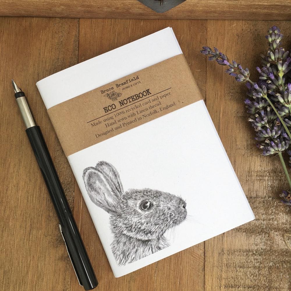 Bruce Bramfield Wild Rabbit Eco Notebook (white Cover)