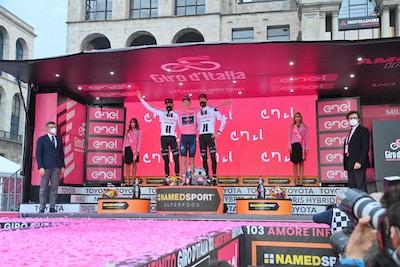 Tao Geoghegan Hart se Queda con la Maglia Rosa en la Última Crono. - Clausura del Giro d'Italia