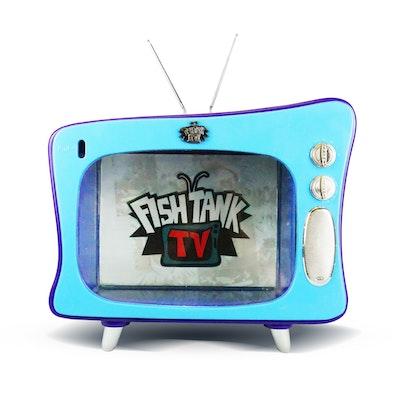 FISH TANK TV Purple/Blue 15 Litres