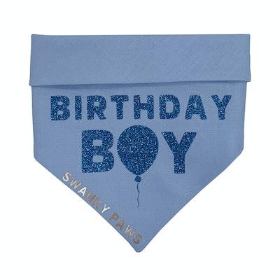 Swanky Paws Blue Birthday Dog Bandana