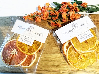 Fruity Garnish Co Dehydrated Mini Packs - Branded or Unbranded, Perfect for wedding favours/parties etc.