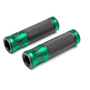Oval Cut Aluminium Grips - Green