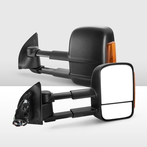 Pair Extendable Towing Mirrors for Ford Ranger Raptor 2012-ON W/ Indicators