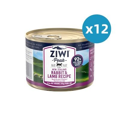 ZiwiPeak ZIWI Peak Cat Rabbit & Lamb Recipe Can 185G X 12