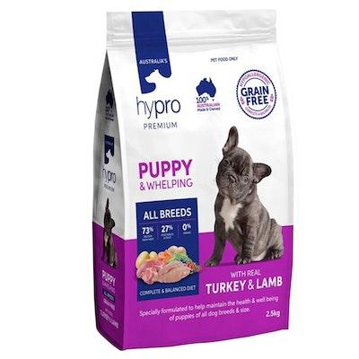 Hypro Premium Puppy All Breeds Dry Dog Food Real Turkey & Lamb - 3 Sizes