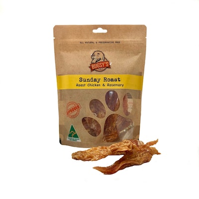 Bugsy Pet Supplies HEALTHY SNACKS | Sunday Roast Dehydrated Australian Chicken with Rosemary
