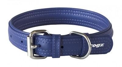 Rogz Leather Collar Purple
