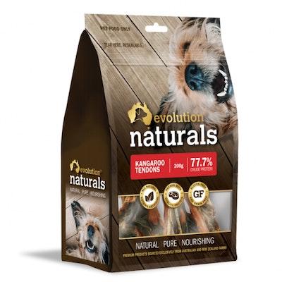 EVOLUTION NATURALS Kangaroo Tendors Dog Treats 200G