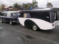 Minis do it too with caravans