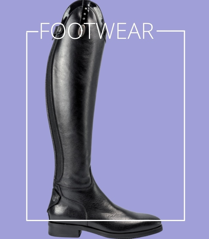 horse riding boots and footwear