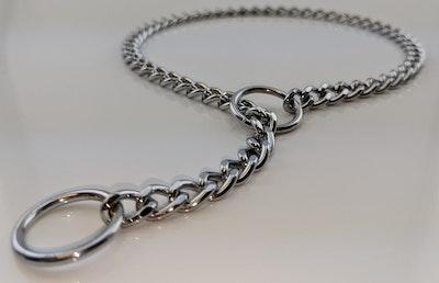 Herm Sprenger Chrome - Flat Links Check Chain - 2.5mm - Sizes: 35cm, 40cm, 45cm, 50cm, 55cm, 60cm, 65cm
