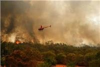 Chopper over bushfire courtesy Fire and Emergency Services Authority of Western Australia