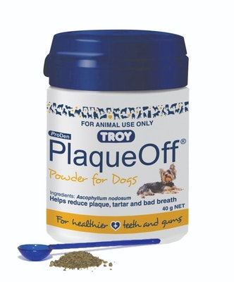 Troy Plaque Off for Pet Dogs Tartar Bad Breath Plaque 40g
