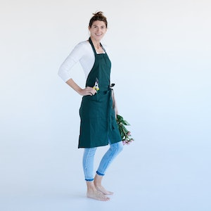 Apron Organic Florist, with split front, made in pure 100% Organic cotton