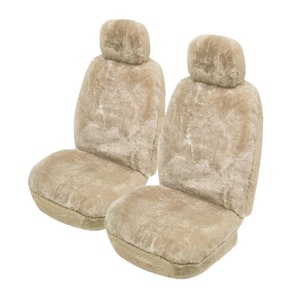 Lambswool Sheepskin Seat Covers 27Mm Airbag Safe | Mocha