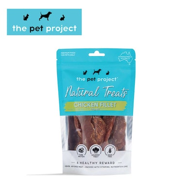 The Pet Project Natural Treats Chicken Fillet 100g