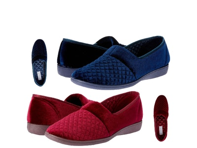 Boutique Medical Grosby Marcy 2 Women's Slippers Slip On Indoor Outdoor Quilted Moccasins Shoes