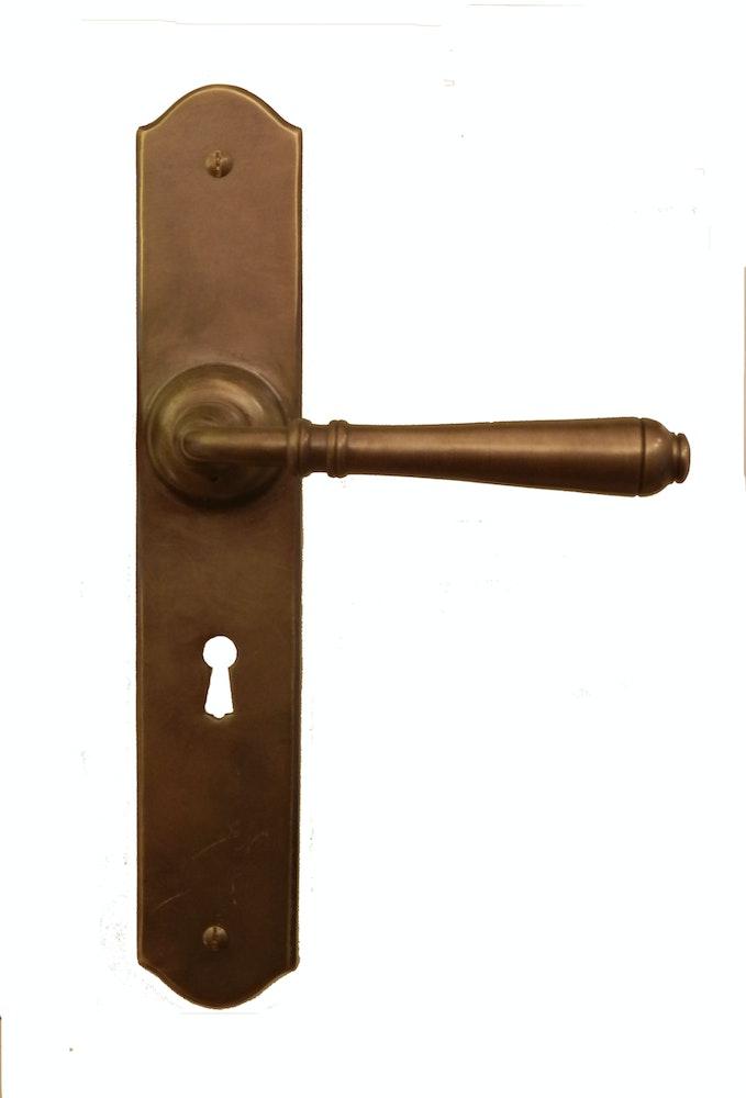 Traditional Hardware Co Reims Antique Brass Door Handle