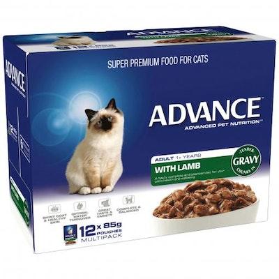 Advance Adult Lamb In Gravy Wet Cat Food 12x85G