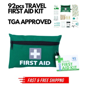 92pcs TRAVEL FIRST AID KIT Medical Workplace Set Emergency Family Safety Office
