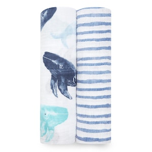 aden+anais seafaring 2-pack classic swaddles