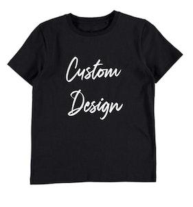 Custom Design Kids T-shirt - Black