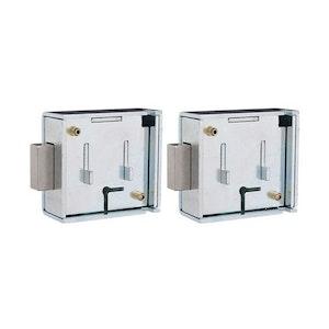 Ross Keyed Alike Pair of Ross 6 Lever Key Operated Safe Locks 600AL with 2 Keys