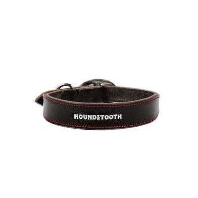 HOUNDZTOOTH Classic Houndz Dog Collar Black Leather