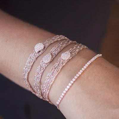 I Dream of Silver Interwoven Gold Wrap Bracelet