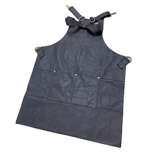BUFFALO LEATHER APRON Cooking Chef Hairdresser Waterproof Durable Quality - Brown