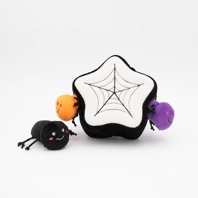 Zippy Paws Halloween Burrow - Spider Web