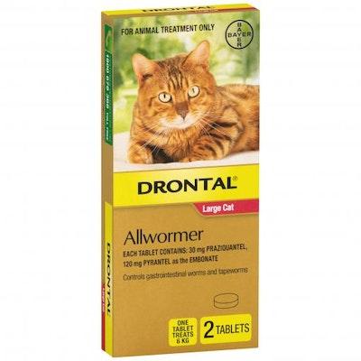 Drontal Ellipsoid Allwormer 6kg Cat 2 Pack