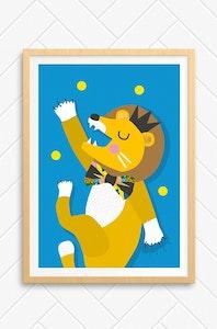 'Lion' Unframed Print - A4 Size