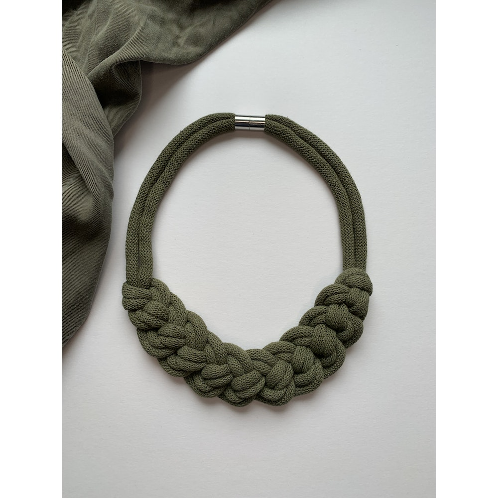 Form Norfolk Loop Knot Necklace In Forest Green
