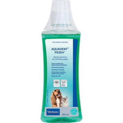 Virbac Aquadent Fresh Water Additive Dental Solution for Dog & Cats - 2 Sizes
