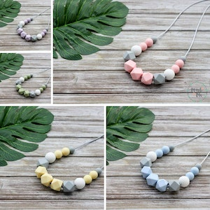 Marli & Me™ WILLOW silicone necklaces   PASTEL LOVE collection