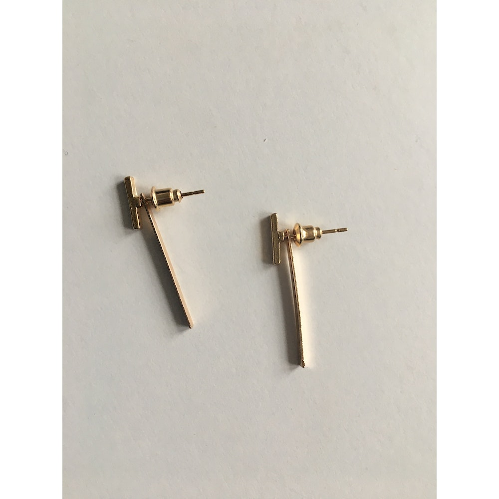 One of a Kind Club Gold Line Earrings